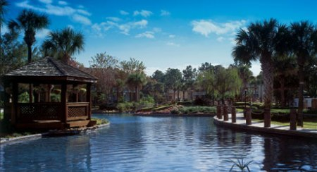 Lagoon at the Wyndham Orlando Resort in Orlando, Florida